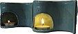 Porta Velas Rechaud Yin Yang em Cerâmica - Imagem 3