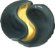 Porta Velas Rechaud Yin Yang em Cerâmica - Imagem 1