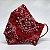 Máscara 3D de Bandana Vermelha Tradicional - Tripla Camada - Imagem 1