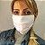 Mascara de Tecido Dupla Face Estampada Chevron - Imagem 3