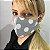 Máscara de Tecido Bico de Pato Cinza de Poá Branco - Modelo CT  - Imagem 2