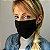 Máscara de Tecido Dupla Face Preto Liso - Imagem 2