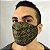 Máscara de Tecido 3D Preta e Dourado - Modelo Tarja - Imagem 2