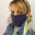 Máscara de Tecido Bolinha e Chevron Azul c/ Clips Nasal - Imagem 4