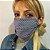 Máscara de Tecido Bolinha e Chevron Azul c/ Clips Nasal - Imagem 3