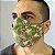 Máscara 3d Camuflada com Rosas - Tripla Camada - Imagem 3
