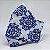 Máscara 3D Azulejo Branco e Azul- Tripla Camada - Imagem 2