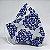 Máscara 3D Azulejo Branco e Azul- Tripla Camada - Imagem 1
