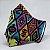 Máscara de Tecido 3D Estampa Étnica Color - Tripla Camada - Imagem 1