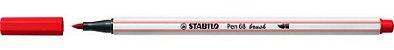 CANETA BRUSH VERMELHO CLARO STABILO - Imagem 2