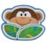 Prato Infatil com divisórias - Macaco - Stephen Joseph - Imagem 1