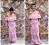 Vestido longo linha rosa claro (G) - Doce de Coco - Imagem 1