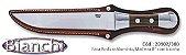 """Faca BIANCHI Rodizio - Alumínio/Madeira 8""""  Lâmina Aço Inox Com Bainha De Couro 20902/38b - Imagem 1"""