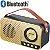CAIXA DE SOM RETRO XTRAD BLUETOOTH TF USB FM WS-3138 - XTRAD - Imagem 2