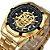 Relógio Dourado Skeleton - Imagem 1
