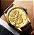 Relógio Dourado Tevise Dragon - Imagem 2
