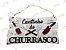 Placa Cantinho do Churrasco em MDF - Imagem 1