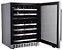 Adega 46 Garrafas Dual Zone, Porta Direita, 6 Prateleiras em madeira c/ acabamento em aço inox e telescópica, LED Branca-127 V- Evol - Imagem 2