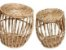 Conjunto de Cesto de Fibra Natural - Tamanho P e M - Imagem 1
