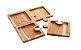 Petisqueira de madeira Teca C/ 4 divisórias. - Imagem 1