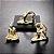 Kit Escultura Yoga Dourada em Porcelana - 3 peças - Imagem 2
