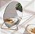 Espelho Redondo com Suporte Dourado - 22 x 20 x 10,5 cm - Imagem 2