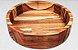 Conjunto de Petisqueiras Cambuci Madeira Teca 3 peças - ARZ Home Design - Imagem 2