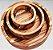 Conjunto de Petisqueiras Cambuci Madeira Teca 3 peças - ARZ Home Design - Imagem 1