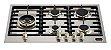 Fogão de mesa a gás inox escovado 75m 5 queimadores com tripla chama Lateral Vintage - Tecno - Imagem 1