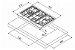 Fogão de mesa a gás inox escovado 75m 5 queimadores com tripla chama Lateral Vintage - Tecno - Imagem 4