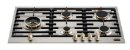Fogão de mesa a gás inox escovado 89cm 5 queimadores com tripla chama lateral Vintage - Tecno - Imagem 1