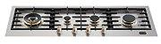Fogão de mesa a gás inox escovado 110 cm x 40 cm 4 queimadores com tripla chama lateral Vintage - Tecno - Imagem 1
