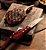 Jogo de Talheres para Churrasco Jumbo Tramontina em Aço Inox com Cabo Vermelho Polywood 12 Peças - Imagem 6