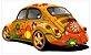 Adesivo de Parede Fusca Hippie - Imagem 2