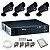 Kit 04 Câmeras de Segurança Bullet + DVR Intelbras + Acessórios - Imagem 1