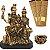 Kit Estátua Família Shiva + Incensário + 3 Incensos Naturais  - 601 - Imagem 1