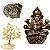 Kit Estátua de Ganesha + Árvore de Citrino + Pirita - Imagem 1