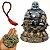 Kit Estátua Buda Riqueza Flor de Lótus + Pulseira de Japamala + Pedra Pirita - Imagem 1