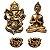 Kit Mini Estátua Ganesha + Buda Hindu + 2 Castiçais - Imagem 1