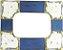Porta Retrato Azul Rústico - Imagem 1