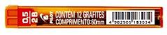GRAFITE 0.5MM 2B C/12 GRAFITES - PILOT - Imagem 1