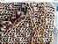 bolsa em fio de seda bege em ponto pipoca com duas correntes uma tigrada em resina e outra dourada  - Imagem 1