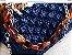 bolsa em fio de seda azul marinho ,em ponto pipoca com duas correntes uma em tartaruga ,a outra de metal . - Imagem 2