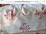 bolsa em fio de seda em 4 cores :salmão,rosa,laranja e marfim .Possue duas alças ;uma  pequena de resina cor marfim e outra comprida dourada . - Imagem 3