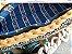 bolsa em fio de malha e fio de lã ,com detalhes em pedras e tassel .Corrente comprida de resina cor marfim - Imagem 3