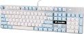 Sades Teclado Mecânico K10 Switch Cherry Azul Angel Edition Branco e azul  Especial  - Imagem 1