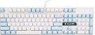 Sades Teclado Mecânico K10 Switch Cherry Azul Angel Edition Branco e azul  Especial  - Imagem 2