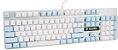 Sades Teclado Mecânico K10 Switch Cherry Azul Angel Edition Branco e azul  Especial  - Imagem 3