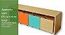 Aparador Infantil com 3 Carrinhos Organizadores - Imagem 1