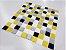 Placa Pastilha Adesiva Resinada 30x27 cm - AT054 - Amarelo - Imagem 1